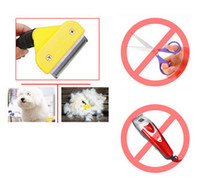 hair clipper accessories - Pet Grooming Cat Dog Accessories Comb hair Removal Soft Plastic Handle Brush Hair Comb For Cat Dogs Pet Supplies