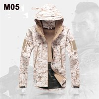 Wholesale Mens Waterproof Jackets Military Tactical Shark Skin Soft Shell Jacket Hunting Camping Windproof Coats Desert Camouflage Hiking Outerwear