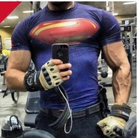america fitness - 2016 New Hot Sale Man Compressed Shirt T Shirt Tops Superman Batman Captain America T shirt Male Fitness Quick Dry T shirt Style Choice