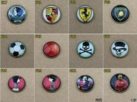 Wholesale 2016 D Car Stickers Badges Auto accessories decorative stickers15pcs mm Fashion Phone Paste Cartoon Football Team D