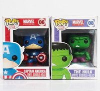 Wholesale FUNKO POP Avengers Captain America Hulk Iron man PVC Action Figure Collection Toy Doll Children s Christmas gifts quot CM