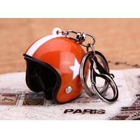 anchor keychain - Motorcycle helmet Keychain Classic key rings Fashion Jewelry Keyfob Casque Key Holder Creative Gifts Orange