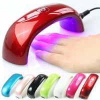 .Mini Arco-íris Nail Art Ponte lâmpada 9W luz LED em forma de Mini Cura Secador de unhas Nail Art Cuidados Lâmpada Gel UV Máquina USB