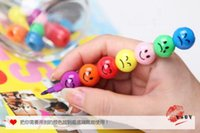 Wholesale Creative Cartoon Funny Expression Colored Seven Colors Gourd Crayons Paintings Removable Ballpoint Pen Children Pens Kids Gift CM jk3015