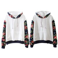 bape pouch - Sexy Ladies Floral Long Sleeve Front Pouch Pocket Hoodie Outerwear K5BO