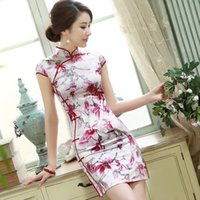 Wholesale Delicate products Chi short sleeved dress summer new daily short paragraph Slim was thin short sleeved dress Q1099