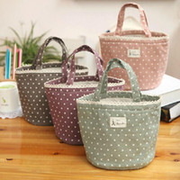 Wholesale Insulated Dot Picnic Lunch Bag Cooler Thermal Waterproof Travel Carry Tote Pouch