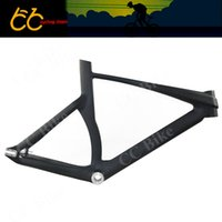 Wholesale Top Quality C Smooth full carbon Cycling Track Frame Road bike including frame front fork seatpost CC CRT Z