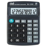 Wholesale Deli Financial Calculator Black Mini Transparent Calculadora Digits Large Display Electronic Taschenrechner Calcolatrice