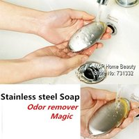Wholesale 6 Stainless Steel Soap Magic soap metal Odor remover for cigarettes refrigerator pets Kitchen Novelty households