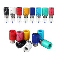 Wholesale Glass Jade Drip Tips Turquoise Glass Drip Tip Colorful Wide Bore Drip Tip For E cigarette Mod EGO RBA RDATank Electronic Cigarettes