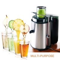 Wholesale SKG Premium RPM High Yield Stainless Steel Wide Mouth Juice Extractor Green Grey Metallic