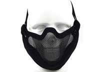 Wholesale new arrival V9 half face steel wire mask five colors with good quality Cl9