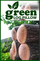 Wholesale Fashion Green Innovation trees modeling green logs pillow personality cylindrical wooden pillow Car cushion