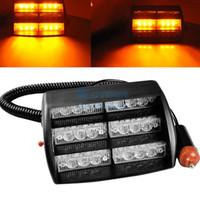 Wholesale 18 LED Strobe Lights With Suction Cups Fireman Flashing Emergency Warning Car Light Flashing Mode