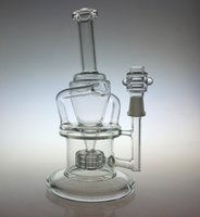 Wholesale Wake Bake New Bongs Glass oil rigs incycler water pipes with matrix stereo perc