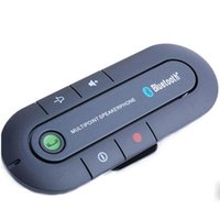 Wholesale Portable Multipoint Wireless Hands Free Bluetooth Sun Visor In Car Speakerphone Car for Sony Xperia Nokia Lumia Google Nexus