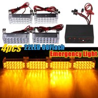 led emergency light bar - Brand New V x4 LED Flash Amber Car Emergency Light Bars Warning Strobe Auto Lamp order lt no tracking