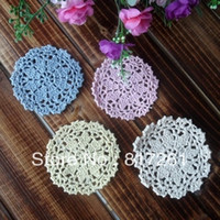 beautiful mat - beautiful colors pics cm round flower coffee cup mat crochet heat pad table coaster placemat doily