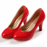 Wholesale 3 inch High Heels Red Wedding Shoes Lady Formal Dress Shoes Women s Fashion Shoes DY883 A1
