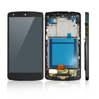 Wholesale Replacement Parts LCD Display Screen With Digitizer with Bezel Frame Assembly White For LG Google Nexus D820