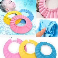 Wholesale Safe Shampoo baby Shower Cap Bathing Bath Protect Soft Cap Hat For Baby Children Kids Gorro de ducha Tonsee