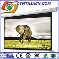 best projection screen - Cynthia Best Price HD D K Matte Whtie Fabric Electric Projection Screens With RF IR Remote Control