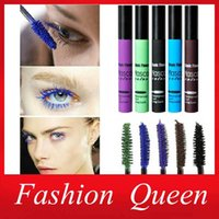 Wholesale 2015 New Colorful Waterproof Lengthening Thick Curly Mascara Beauty Magic Eyelash Cosplay