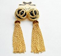 beach number - Ms Valentine long style earrings Nightclubs exaggerated tassel chain pendant earrings Summer beach popular jewelry H28