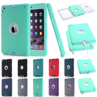 Wholesale For iPad mini Defender Armor shockproof Robot Hard cover Case Safe Extreme Heavy Duty silicone cover