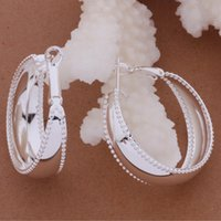 Sterling Silver large hoop earrings - Fashion Jewelry Manufacturer a Smooth large Circle Earrings sterling silver jewelry factory price Fashion Shine Earrings