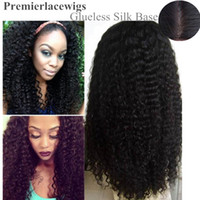 natural color indian remy curly full lace wigs - Glueless Silk Top Full lace Wigs Indian Remy human hair Natural Color Deep wave Small Cap Size X4 Silk Base Wigs