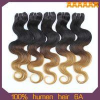 Wholesale 6A unprocessed malaysian peruvian brazilian virgin hair brazillian ombre hair extensions cheap ombre human hair weave g bundles