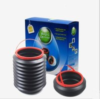 trash cans - Magic Container Collapsible Plastic Boot Organiser Car Use Trash Can Small Bucket Can Load L Water dandys