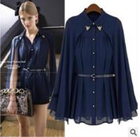 american blouse - 2014 European American Fashion Leisure Women Shawl Cape Style Chiffon Blouse Sun Protection Clothing Blusas Blusas Femininas TZX115