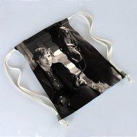 benedict cumberbatch - New benedict cumberbatch Print Bags Backpack Travel Softback Wonmen mochila harajuku drawstring bag unisex backpacks x40cm