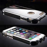 best skin iphone - Luxury Clear Mirror Real Metal Aluminum Aoly Bumper Hard Phone Back Shell Cover Cases Skin For iPhone Plus Best High Quality
