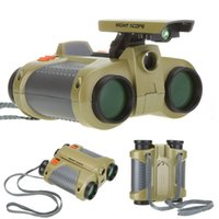 Wholesale 4 x mm Night Scope Binoculars with Pop up Light H1056 Drop Shipping GHM346 Y5