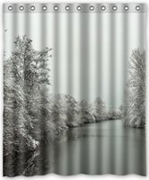 beauty scenes - Hot Sale Custom Winter Scene Beauty Classic Home Setting Bathroom Decoration Shower Curtain With High Quality Print quot x quot