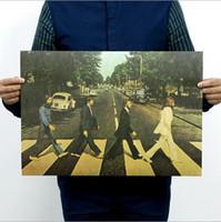 abbey road vinyl - 2016 beetle Cross the street Road Abbey Retro rock cow leather poster x35cm vinyl wallpapers