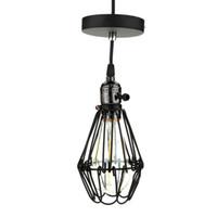 cage wire - 2015 New Mental Fashion LIXADA Classical Vintage Retro Pendant Lamp Loft Antique Parlor Hotel Bedroom Cage Shape Lamp m Wire L0617