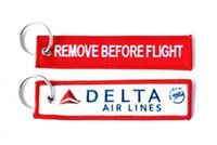airline delta - Delta Airlines Keychain Baggage Tag Luggage Flag Address ID Tag x cm