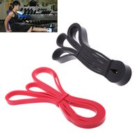 Wholesale 208cm Natural Latex Pull Up Physio Resistance Bands Fitness CrossFit Loop Bodybulding Exercise Yoga Exercise Fitness Equipment Y0280