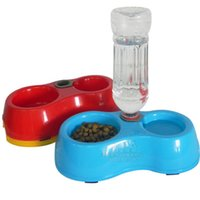 Wholesale High Quality Dual Port Dog Utensils Bowl Cat Drinking Fountain Food Dish Pet Bowl Automatic Water Dispenser Feeder