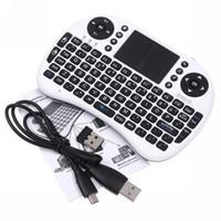 Wholesale NEW Portable mini keyboard Rii Mini i8 Wireless Keyboard with Touchpad for PC Pad Google Andriod TV Box