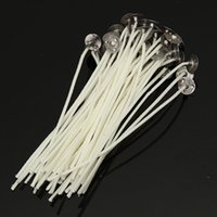 Wholesale Best Promotion x120mm Candle Wicks Pre Waxed PreTabbed With Sustainers Cotton Coreless