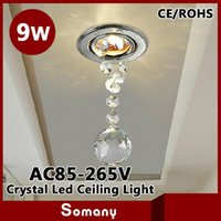 Wholesale New Dining Living Room Night W Down Lighting Modern Chandelier Crystal Ceiling Decoration Lamp Recessed W Led Ceiling