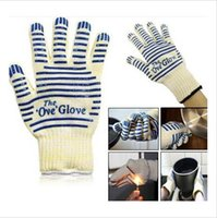 Wholesale 5000p BBA4067 Ove Glove Microwave oven Glove Heat Resistant Cooking glove Heat Proof Oven Mitt Glove Surface Handler BBQ party baking Tool