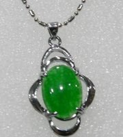beaded easter eggs - gt gt gt quot CHARMING FANCY GREEN EMERALD EGG SHAPED PENDANT NECKLACE x16mm