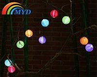 Mejor Precio 3.6m 10 LED blanco cálido blanco Energía Solar Luz Forma Jardín romántico Decoración al aire libre Cadena de Navidad Hada luces lámpara